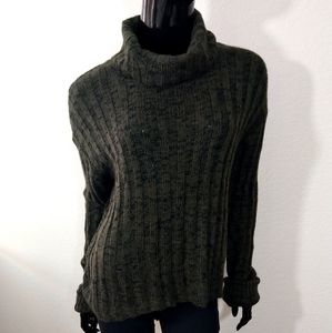 Hooked Up Olive Green Cowl Neck Sweater WT4